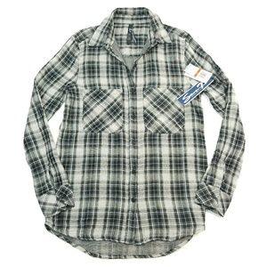 Seven7 plaid long sleeve button down RH661373